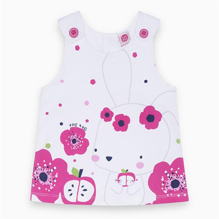 Pink Floral Jersey Dress