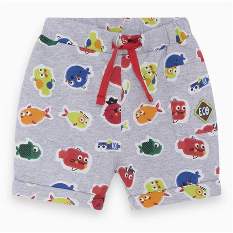 Grey Multi Fish Shorts