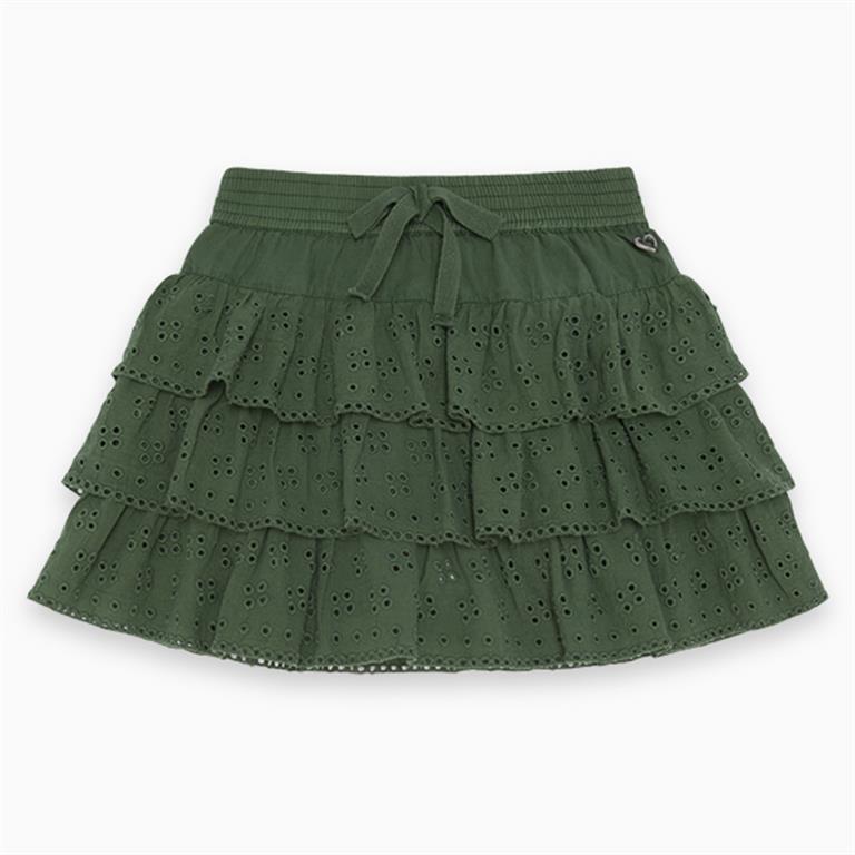 Military Green Frilled Skirt