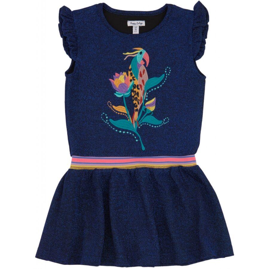 Gaby Dress Navy Glitter
