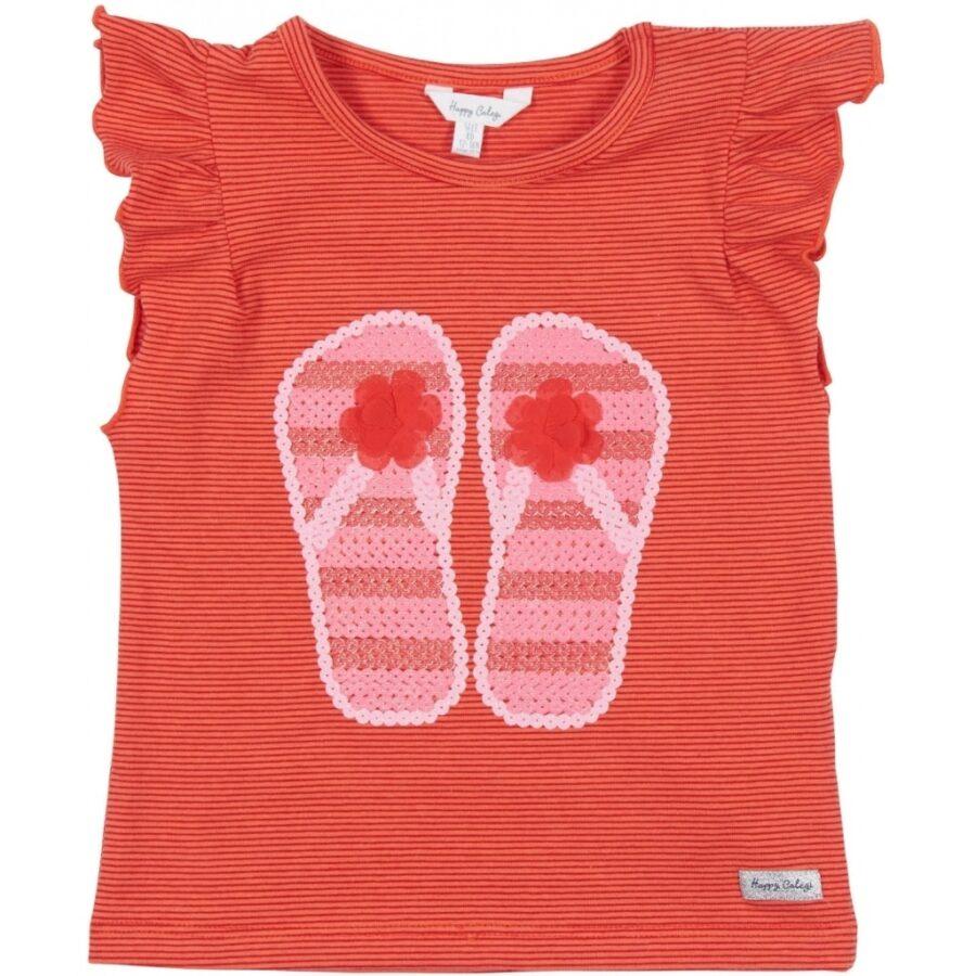 Cute Red Stripe Top Sandals