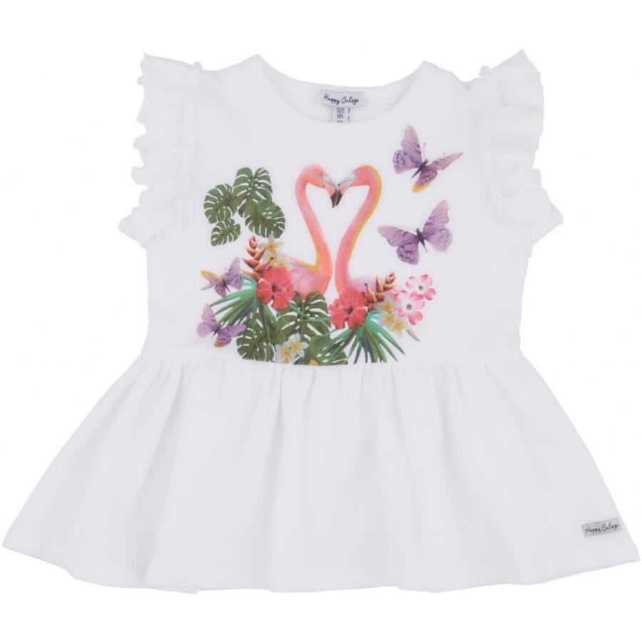 Flamingo Heart SS Tunic
