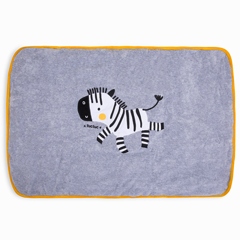 Fun Zebra Reversible Unisex White Stripes and Dots Blanket