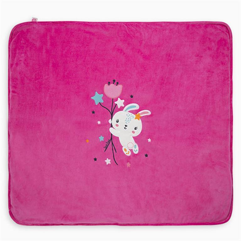 Pink Chic Bunny Reversible Velvet Blanket