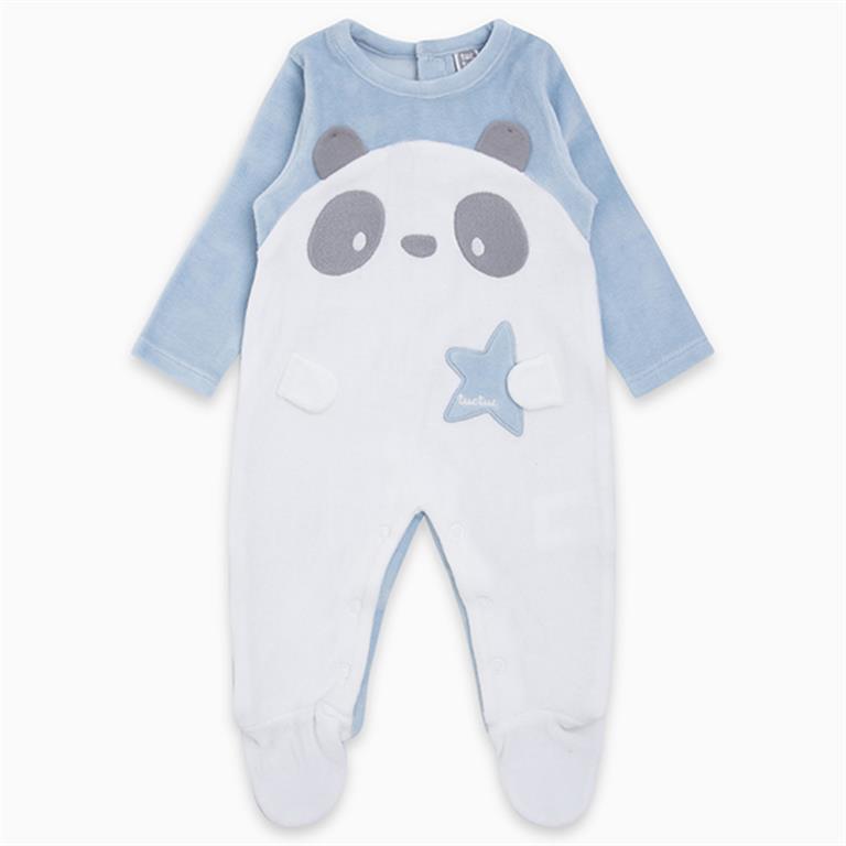 Velvet Blue Panda with Star Detail