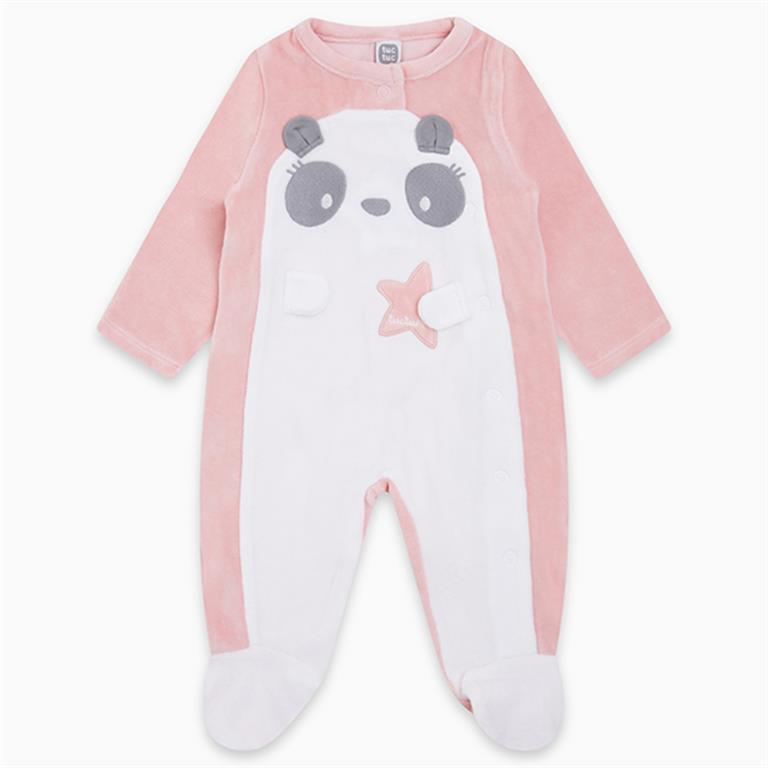 Velvet Pink Panda with Star Detail