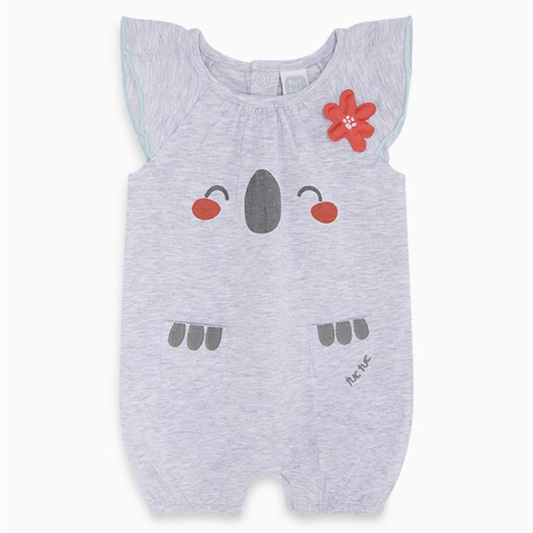 Grey Koala Short Sleeve Romper