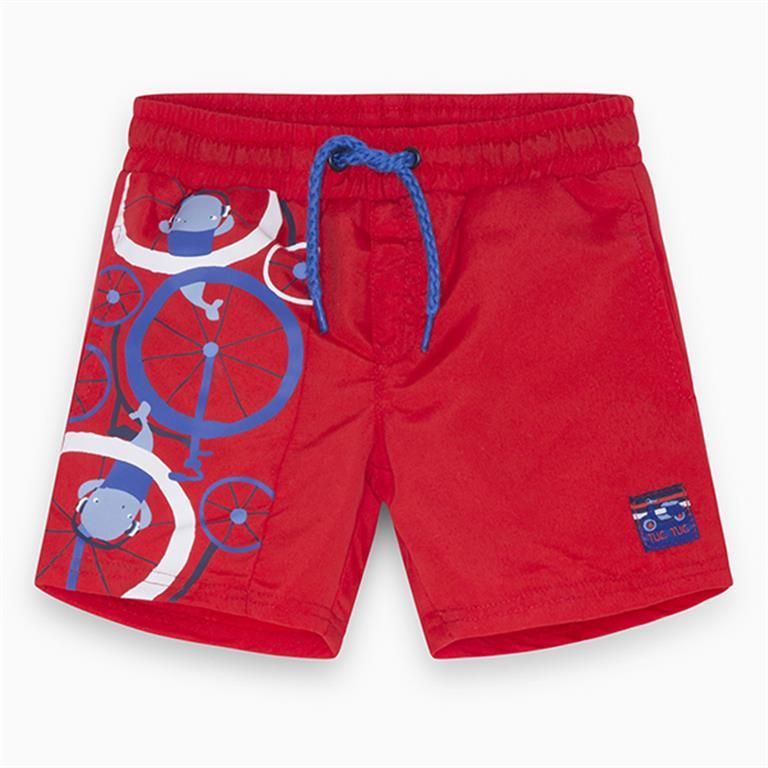 Red | Blue | White Motif Swimming Trunks