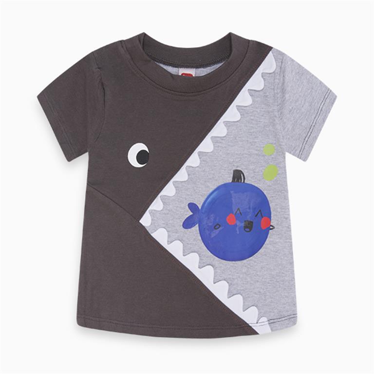 Grey Fish Mouth T-Shirt