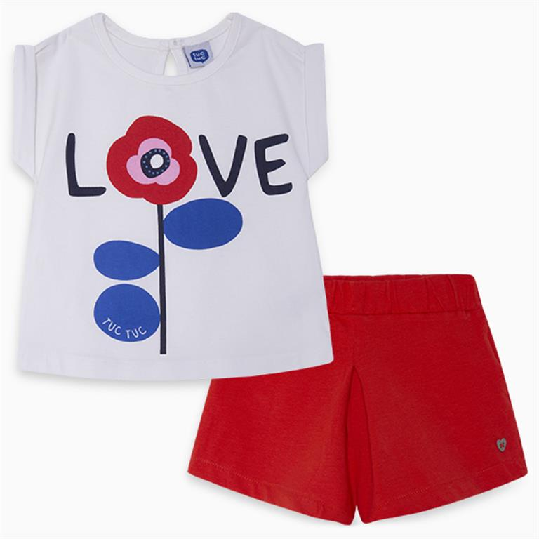 LOVE Cotton t-shirt and shorts