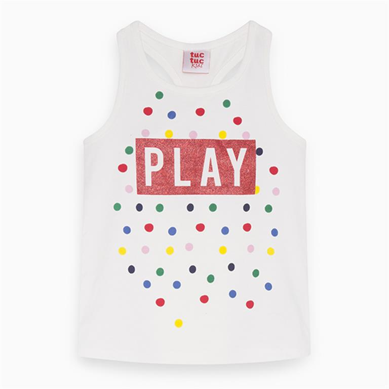 White PLAY Dotted Cotton T-Shirt