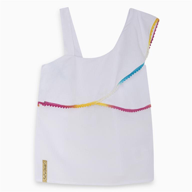 Coloured Edge White Shirt